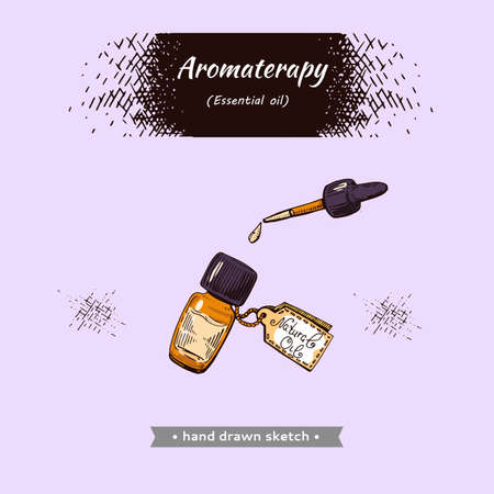 Aromatherapy accessory. Detailed hand-drawn sketches, vector botanical illustration Illusztráció