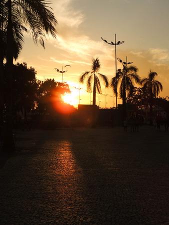 Sunset in Manaus, Amazonas, Rio Negro Reklamní fotografie