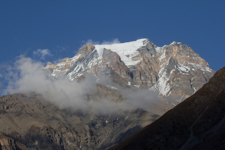 snow peak view from Muktinath Anapurna national park