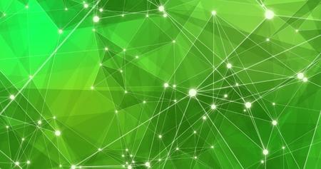 Fondo abstracto tecnología futurista del plexo dinámico. Render 3d