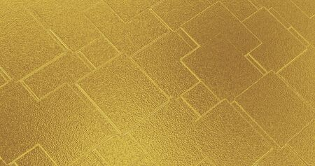 Abstract geometric rose golden backgroundfoil tiles texture seamless background 3D rendering