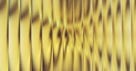 gold foil tiles texture background 3D rendering