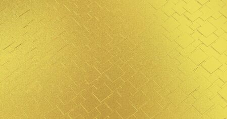 Abstract geometric rose golden background foil tiles texture seamless background. Digital 3d surface. Stok Fotoğraf