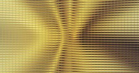 Golden foil tiles texture background. Digital 3d surface. 스톡 콘텐츠