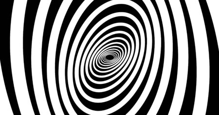 Abstracts spiral psihodelic tunnel background. animation. Virtual reality future design . Black and white colors. 3D rendering Stock fotó
