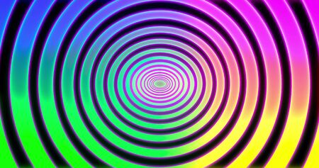 Abstracts spiral psihodelic tunnel background. animation. Virtual reality future design . Different Colors Rainbow. 3D rendering