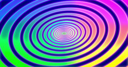 Abstracts spiral psihodelic tunnel background. animation. Virtual reality future design . Different Colors Rainbow. 3D rendering Stock fotó