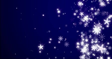 Christmas background with snowflakes - falling snow on a blue background 3D rendering Stock fotó