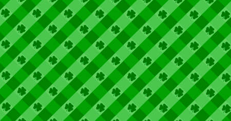 St. Patrick's Day green leaves background. Patrick Day backdrop with falling shamrock leaf pattern. For festive pub party. 3d render 3D illustration Reklamní fotografie