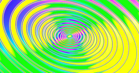Abstracts spiral psihodelic tunnel background. animation. Virtual reality future design. Different Colors Rainbow. 3D rendering Imagens
