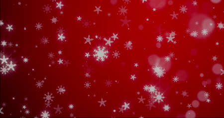 Christmas background with snowflakes - falling snow on a blue background 3D rendering 3D illustration Standard-Bild