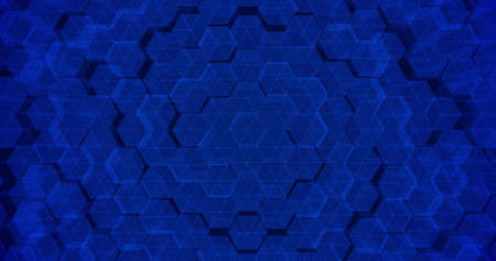 Abstract geometric blue hexagone background. 3D rendering. 3D illustration