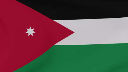 flag Jordan patriotism national freedom , 3D illustration