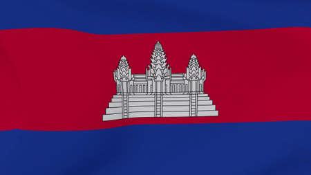 flag Cambodia patriotism national freedom , 3D illustration