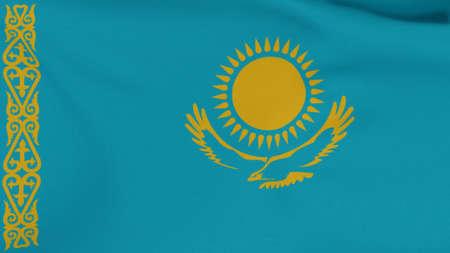 flag Kazakhstan patriotism national freedom , 3D illustration