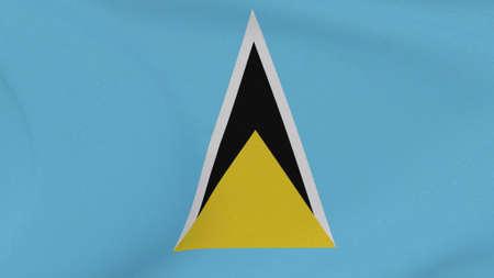 flag Saint Lucia patriotism national freedom , 3D illustration Фото со стока