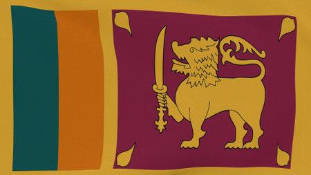 flag Sri Lanka patriotism national freedom , 3D illustration