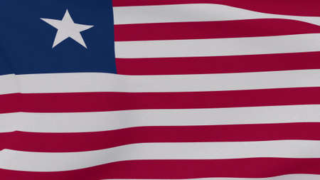 flag Liberia patriotism national freedom , 3D illustration Фото со стока