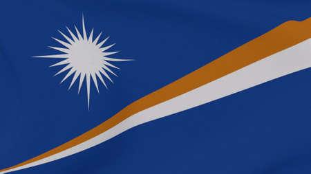 flag Marshall Islands patriotism national freedom , 3D illustration