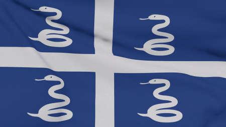 flag Martinique patriotism national freedom , 3D illustration