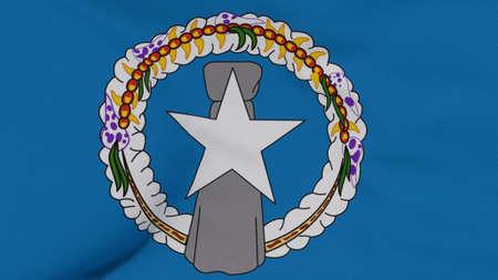 flag Northern Mariana Islands patriotism national freedom , 3D illustration