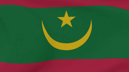 flag Mauritania patriotism national freedom , 3D illustration Фото со стока