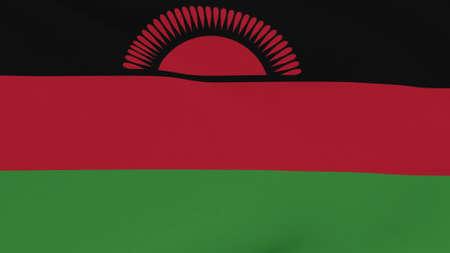 flag Malawi patriotism national freedom , 3D illustration