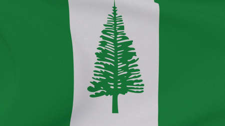 flag Norfolk Island patriotism national freedom , 3D illustration