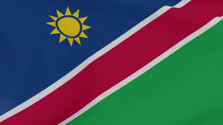 flag Namibia patriotism national freedom , 3D illustration