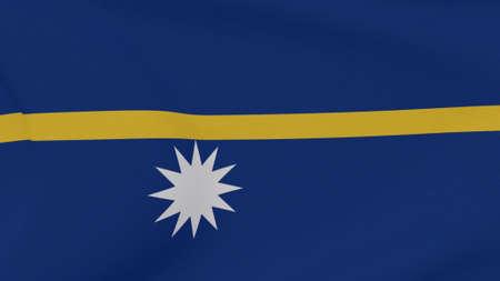 flag Nauru patriotism national freedom , 3D illustration