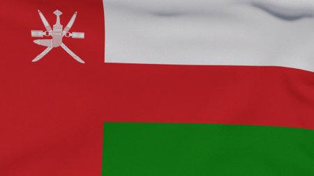 flag Oman patriotism national freedom , 3D illustration