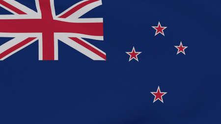 flag New Zealand patriotism national freedom , 3D illustration Фото со стока