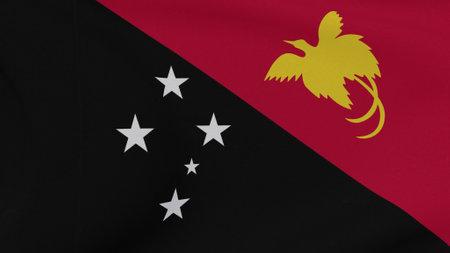 flag Papua New Guinea patriotism national freedom , 3D illustration