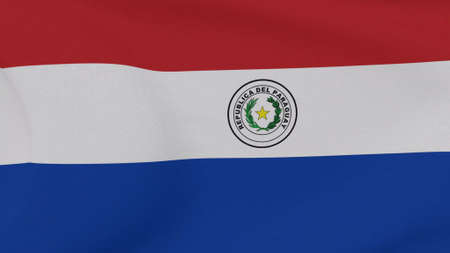 flag Paraguay patriotism national freedom , 3D illustration Фото со стока
