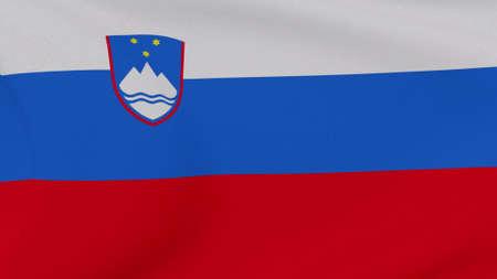 flag Slovenia patriotism national freedom, 3D illustration