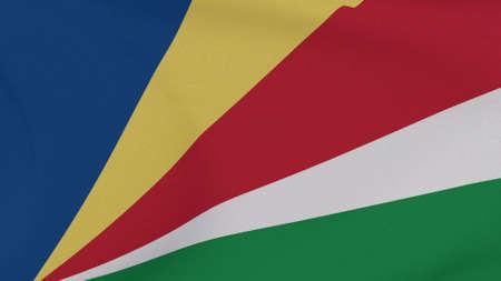 flag Seychelles patriotism national freedom , 3D illustration Фото со стока