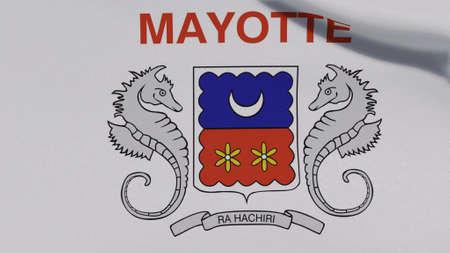 flag Mayotte patriotism national freedom, 3D illustration Фото со стока