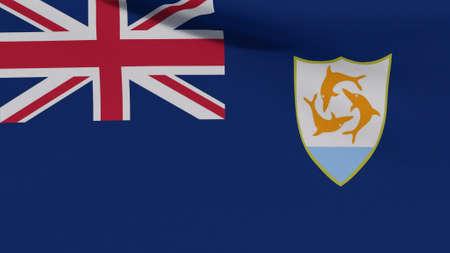 flag Anguilla patriotism national freedom, 3D illustration