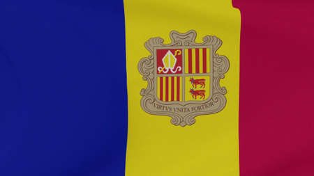 flag Andorra patriotism national freedom, 3D illustration