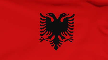 flag Albania patriotism national freedom, 3D illustration