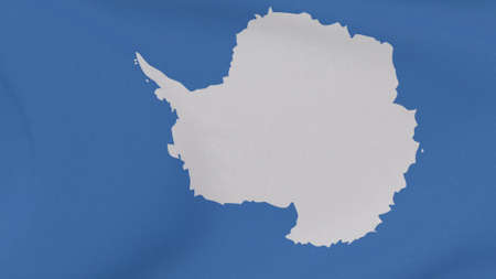 flag Antarctic patriotism national freedom, 3D illustration Фото со стока