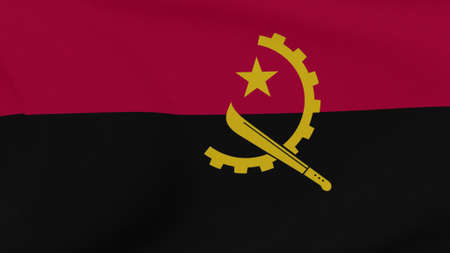 flag Angola patriotism national freedom, 3D illustration
