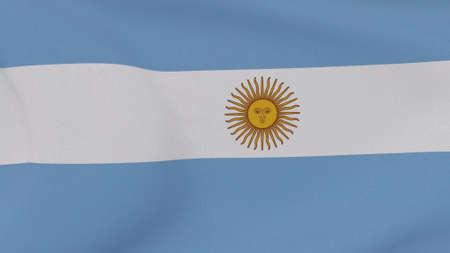flag Argentina patriotism national freedom, 3D illustration