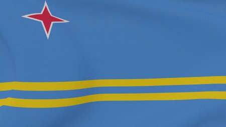 flag Aruba patriotism national freedom, 3D illustration