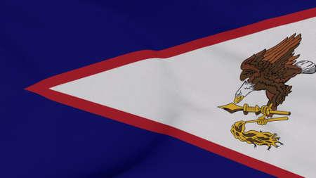 flag American samoa patriotism national freedom, 3D illustration