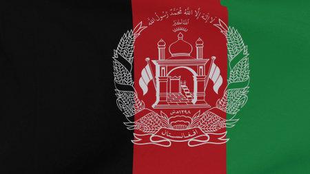 flag Afghanistan patriotism national freedom, 3D illustration
