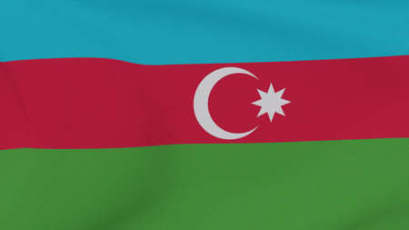 flag Azerbaijan patriotism national freedom, 3D illustration