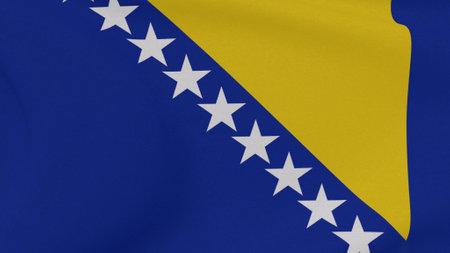 flag Bosnia and Herzegovina patriotism national freedom, 3D illustration