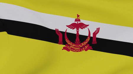 flag Brunei patriotism national freedom, 3D illustration
