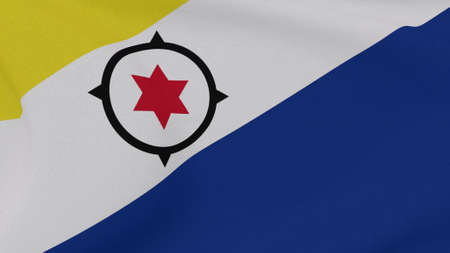 flag Bonaire, Eustatius and Saba patriotism national freedom, 3D illustration